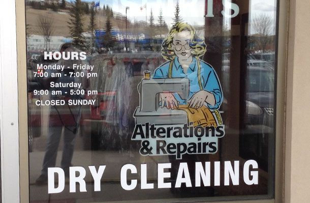 Dry Cleaning window